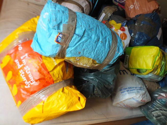 Winter clothes parcels arrive